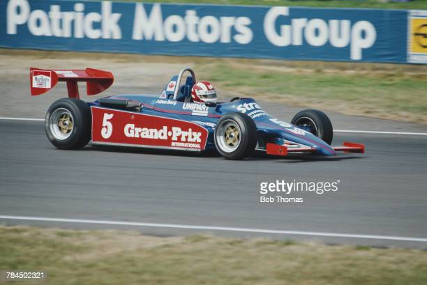 Canadian racing driver Allen Berg drives the Ralt RT3 Toyota of Neil Trundle Racing in round 13 of the 1983 British Formula Three Championship at...