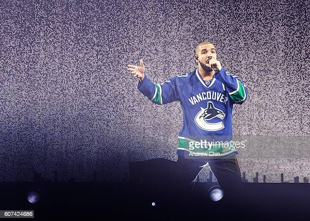 Canadian rapper Drake performs onstage during his 'Summer Sixteen Tour' at Pepsi Live at Rogers Arena on September 17, 2016 in Vancouver, Canada.