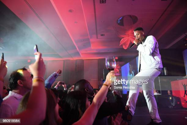 Canadian rapper Kardinal Offishall attends Joe Carter Classic After Party at Ritz Carlton on June 21 2018 in Toronto Canada