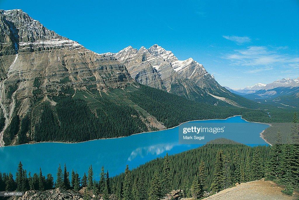 Canadian Rockies and Lake : Stock Photo