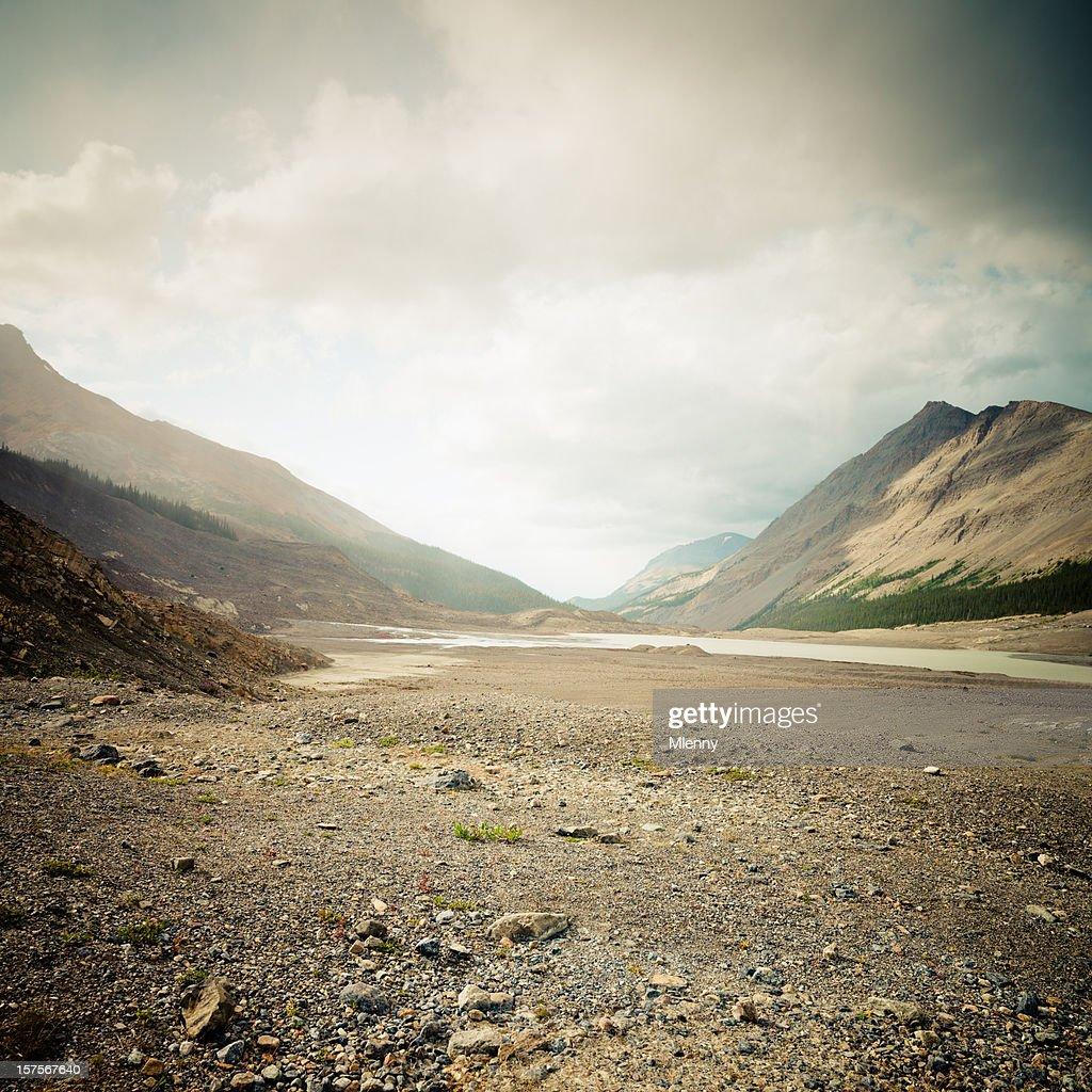 Canadian Rockies Columbia Ice Field : Stock Photo