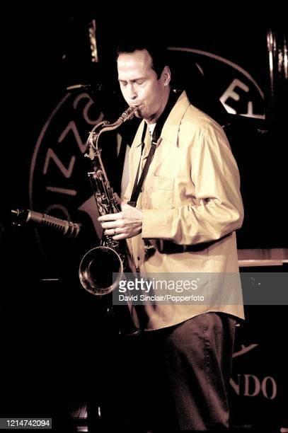 Canadian saxophone player Michael Blake performs live on stage at PizzaExpress Jazz Club in Soho London on 17th October 2002