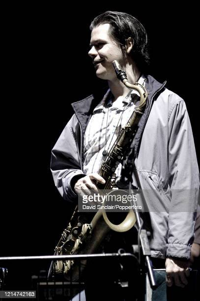 Canadian saxophone player Seamus Blake performs live on stage at Queen Elizabeth Hall in London on 4th May 2003