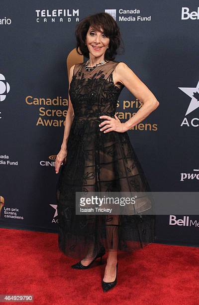 Canadian Screen Awards Host Actress Andrea Martin poses in the press room at the 2015 Canadian Screen Awards at the Four Seasons Centre for the...