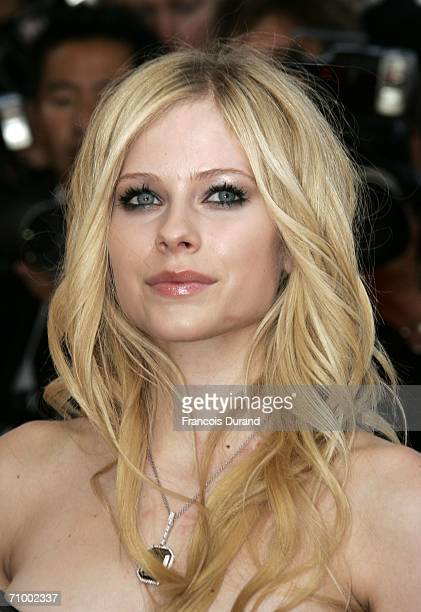 Canadian singer / actress Avril Lavigne attends the 'Over The Hedge' premiere at the Palais during the 59th International Cannes Film Festival May 21...