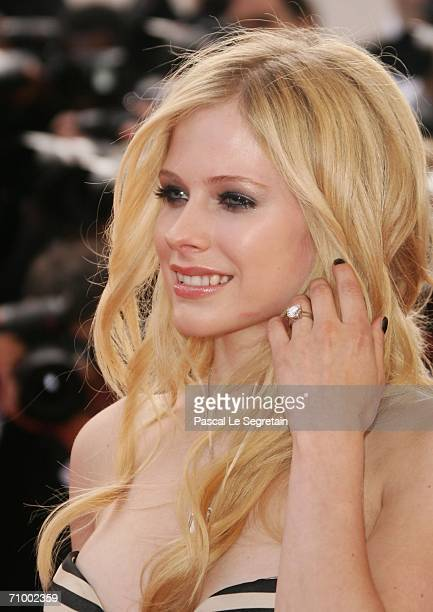 Canadian singer / actress Avril Lavigne attends the 'Over The Hedge' premiere at the Palais during the 59th International Cannes Film Festival May...
