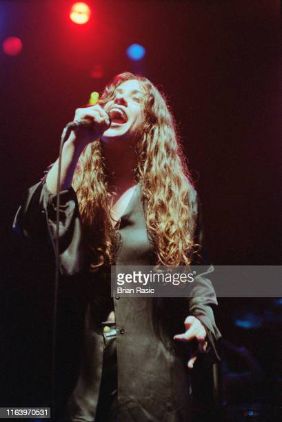 Canadian singer Alanis Morissette performs live on stage at Shepherd's Bush Empire in London on 23rd October 1995