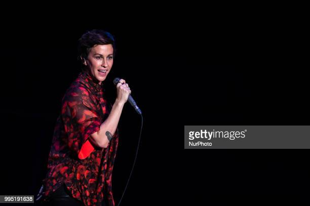 Canadian singer and songwriter Alanis Morissette performing live on stage in Rome at Roma Summer Fest at Auditorium Parco della Musica Rome Italy on...