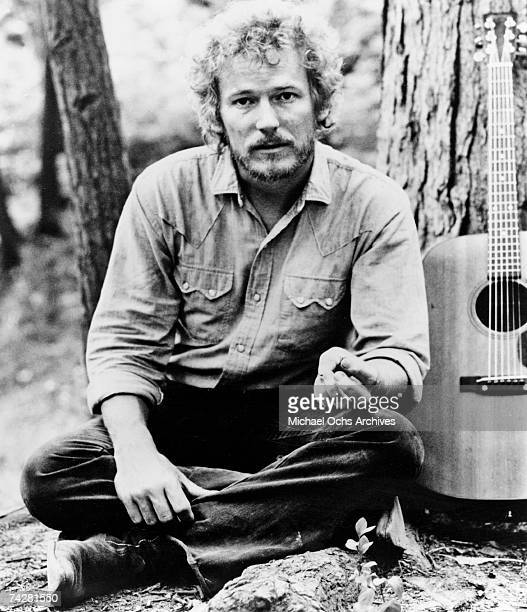 Canadian singer and songwriter Gordon Lightfoot poses for a publicity still to promote his album 'Sundown' on Reprise records