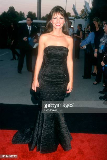 Canadian singer and songwriter Shania Twain poses for a portrait as she arrives before the Country Music Awards on October 4 2000 at the Grand Ole...