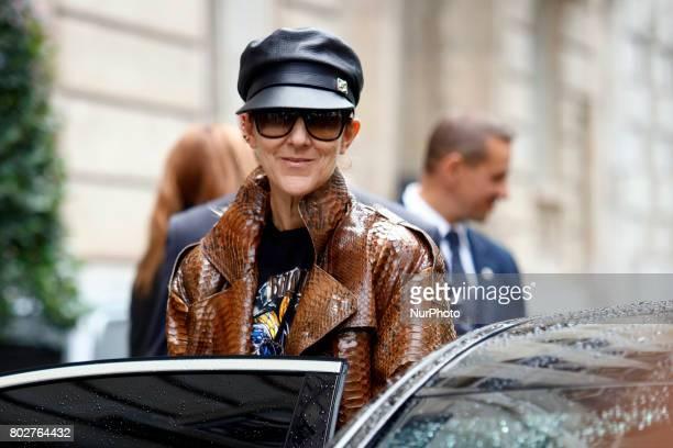 Canadian singer Celine Dion leaves her hotel in Paris France on june 28 2017