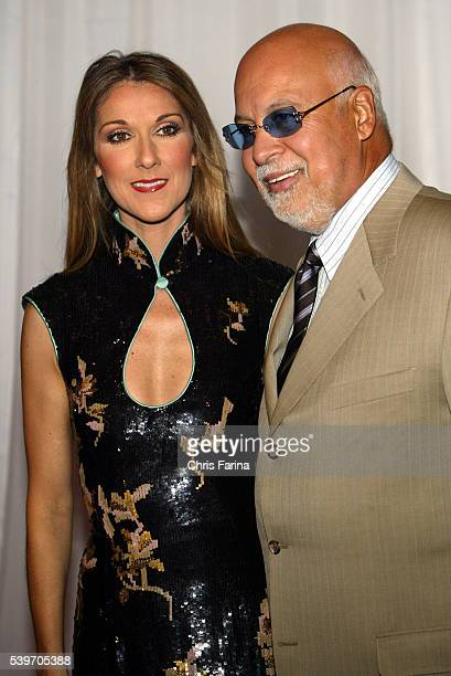 Canadian singer Céline Dion and husband René arrive at the World Music Awards 2004 held at Thomas and Mack Center in Las Vegas
