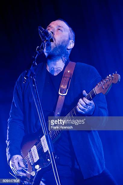 Canadian singer Dallas Green aka City and Colour performs live during a concert at the Huxleys on February 10 2016 in Berlin Germany