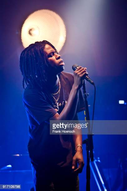 Canadian singer Daniel Caesar performs live on stage during a concert at the Lido on February 11 2018 in Berlin Germany
