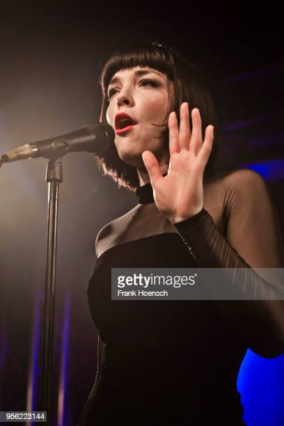 Canadian singer Elise LeGrow performs live on stage during a concert at the Frannz on May 8 2018 in Berlin Germany