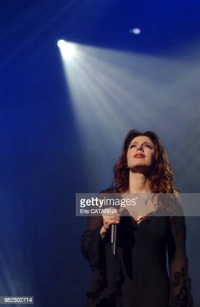 Canadian Singer Isabelle Boulay performing live in Montpellier