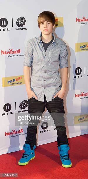 Canadian singer Justin Bieber attends ''The Dome 53'' concert event at the Velodrom on March 5 2010 in Berlin Germany