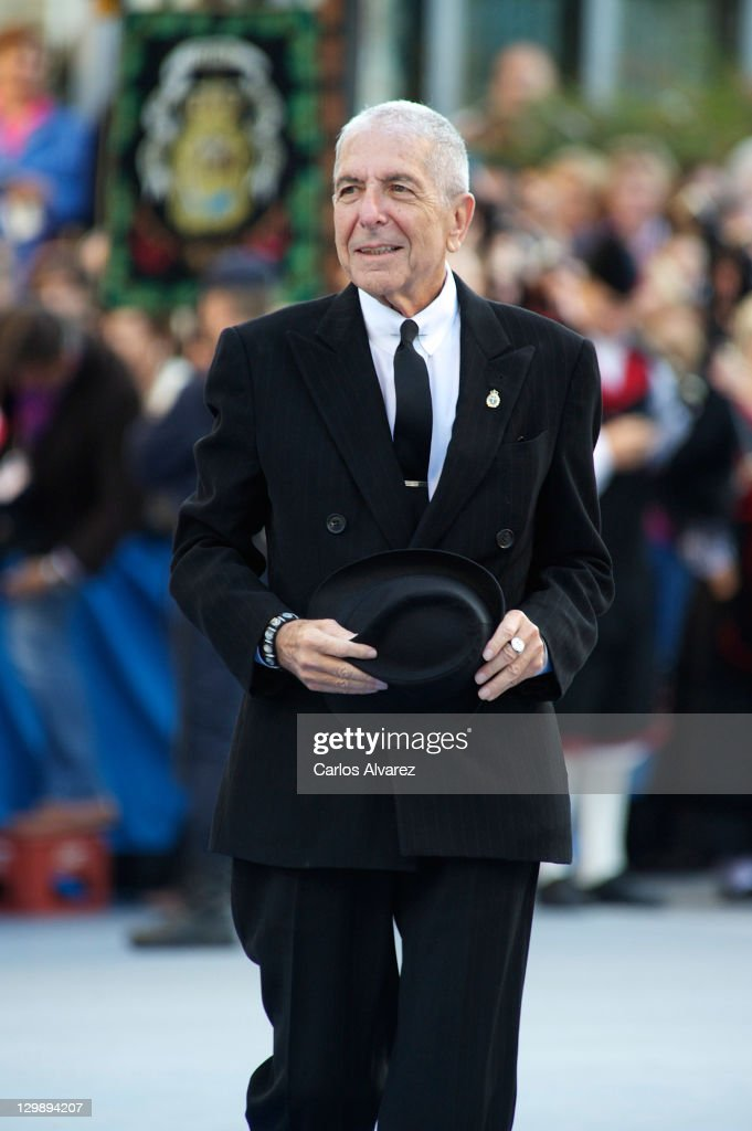 Canadian singer Leonard Cohen attends 'Principe de Asturias' awards 2011 ceremony at the Campoamor Theatre on October 21, 2011 in Oviedo, Spain.