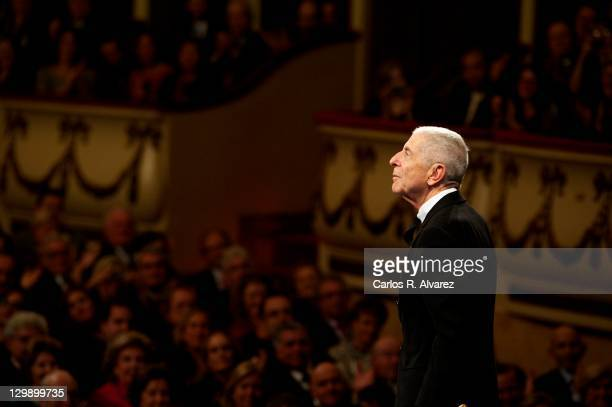 Canadian singer Leonard Cohen attends the 'Prince of Asturias Awards 2011' ceremony at the Campoamor Theater on October 21 2011 in Oviedo Spain