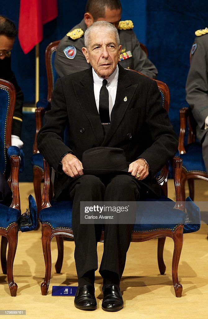 Canadian singer Leonard Cohen attends the 'Prince of Asturias Awards 2011' ceremony at the Campoamor Theater on October 21, 2011 in Oviedo, Spain.