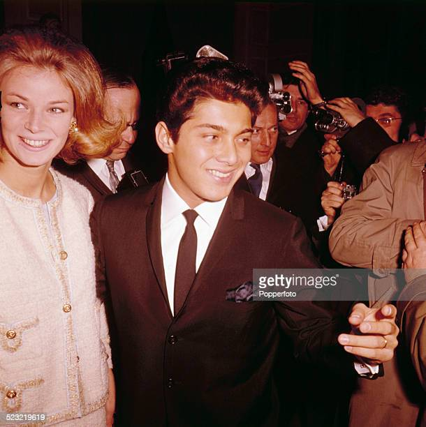 Canadian singer Paul Anka pictured with his wife Anne de Zogheb in Paris in 1963