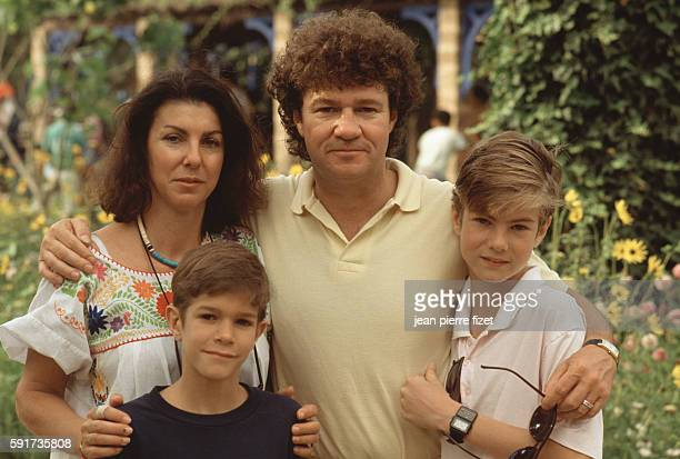Canadian singer Robert Charlebois in Morocco with his wife Laurence and his sons Victor and Jerome