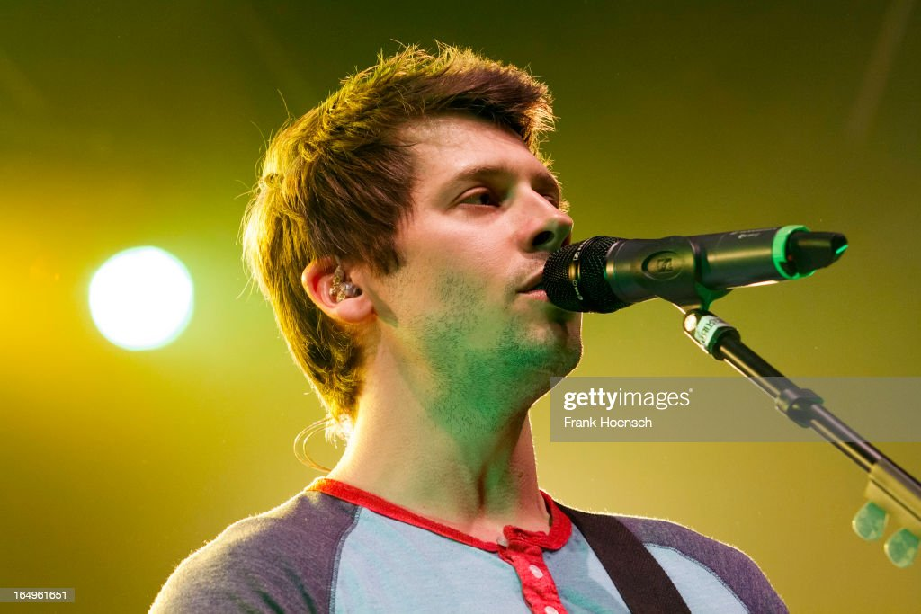 Canadian singer Ryan Marshall of Walk Off The Earth performs live during a concert at the Huxleys on March 29, 2013 in Berlin, Germany.