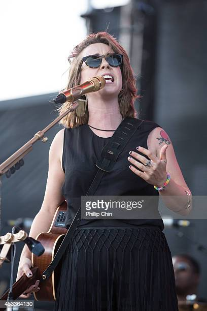 Canadian singer Serena Ryder performs at the Squamish Valley Music Festival on August 8 2014 in Squamish Canada