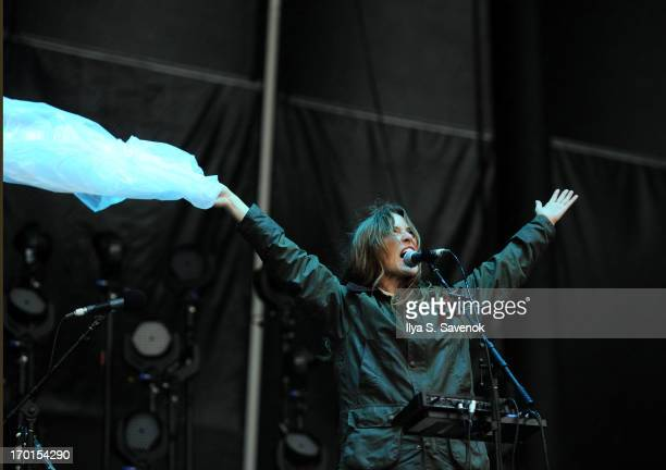 Canadian singersongwriter Feist performs during 2013 Governors Ball Music Festival at Randall's Island on June 7 2013 in New York City