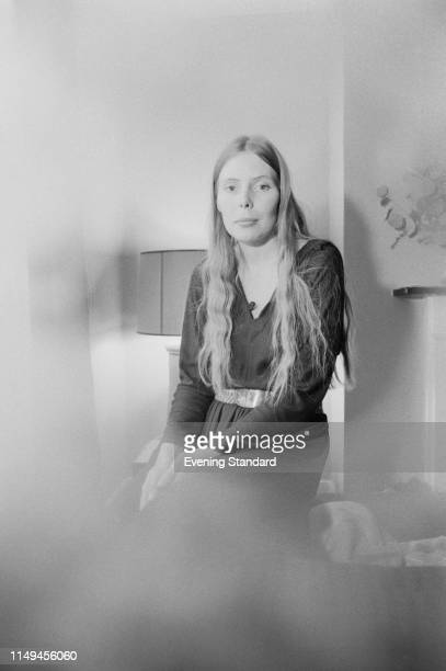 Canadian singer-songwriter Joni Mitchell in London where she will perform at the Royal Festival Hall, UK, 3rd January 1970.