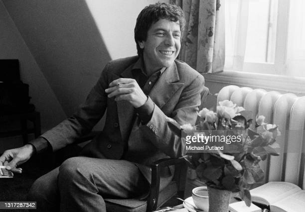 Canadian singer-songwriter Leonard Cohen, London, June 1974.