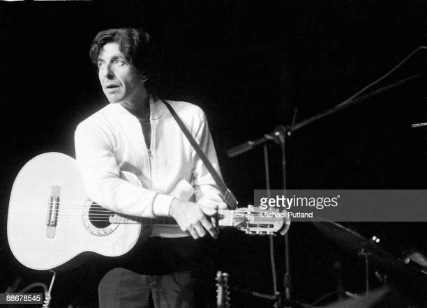 Canadian singersongwriter Leonard Cohen on stage in the UK 27th May 1976
