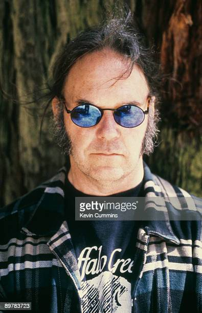 Canadian singersongwriter Neil Young circa 1995