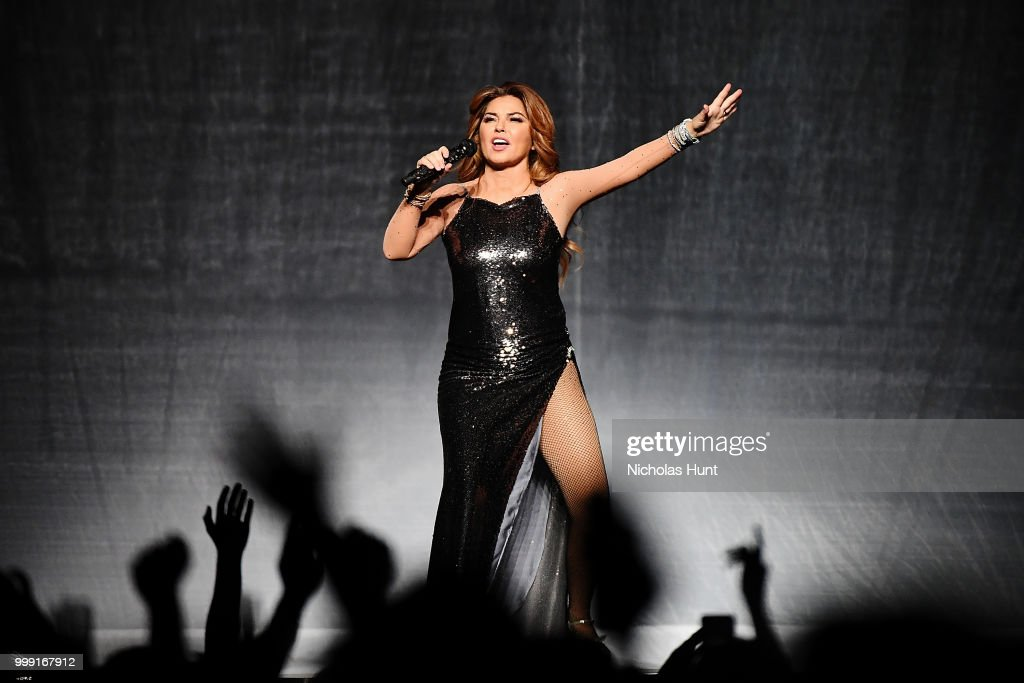 Canadian singer-songwriter Shania Twain performs at Barclays Center of Brooklyn on July 14, 2018 in New York City.
