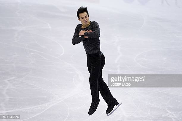 Canadian skater Patrick Chan competes during the Men Free skating program at the ISU Grand Prix of Figure Skating Final 2015 in Barcelona on December...