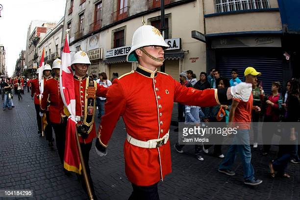 Canadian soldiers march during the military parade to celebrate the 200th Anniversary of Independence on September 16 2010 in Mexico City Mexico