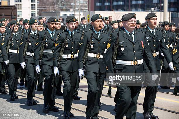 canadian soldiers - military parade stock pictures, royalty-free photos & images