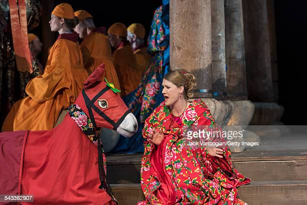 Canadian soprano Jane Archibald performs the title role during the final dress rehearsal prior to the season premiere of the Canadian Opera...