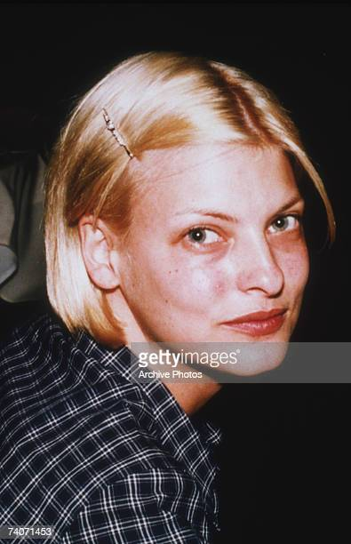 Canadian supermodel Linda Evangelista out of makeup circa 1990