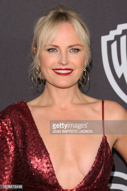 Canadian Swedish actress Malin Akerman arrives for the Warner Bros and In Style 20th annual post Golden Globes party at the Oasis Courtyard of the...