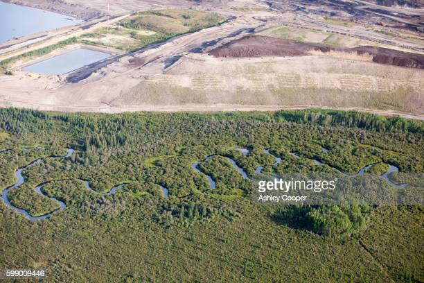 canadian tar sands. - oil sands stock pictures, royalty-free photos & images