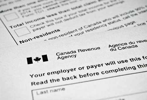 Canadian tax form. 532005661