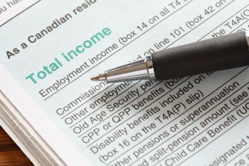 Canadian Tax Return 155158109