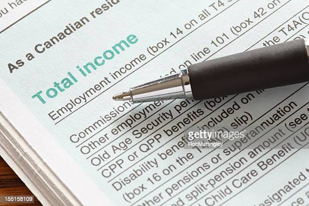 canadian tax return - canada stock pictures, royalty-free photos & images