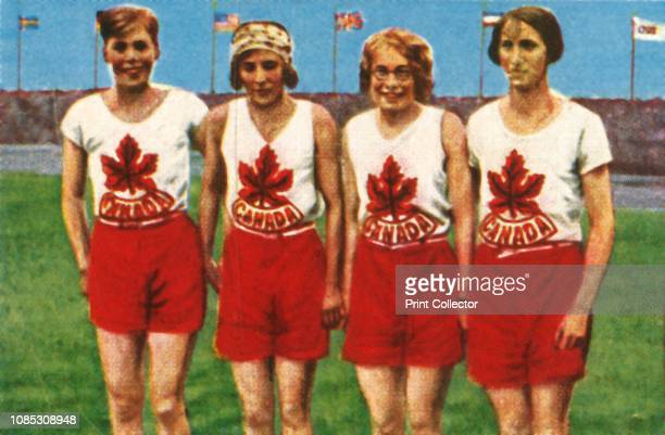 Canadian team women's 4 x 100 metres relay 1928 Ethel Smith Bobbie Rosenfeld Myrtle Cook and Jane Bell won gold medal at the 1928 Summer Olympics...