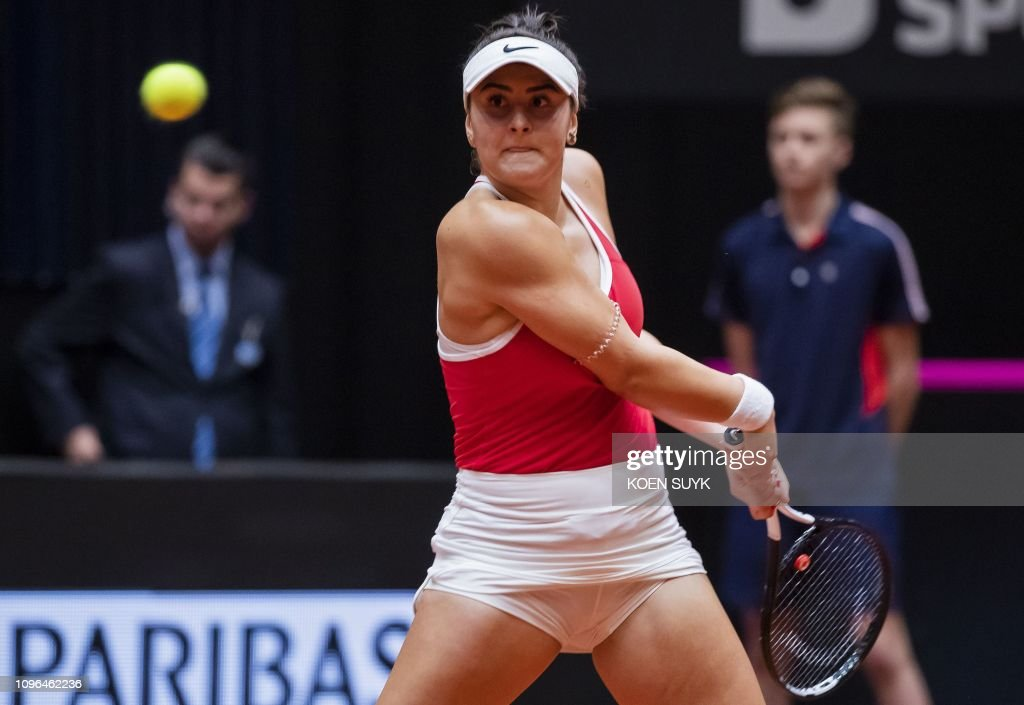TENNIS-FEDCUP-NED-FRA-CAN : News Photo