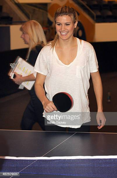 Canadian Tennis Player Eugenie Bouchard competes in The 2nd Annual Raonic Race For Kids Fundraiser Benefitting The Milos Raonic Foundation on...
