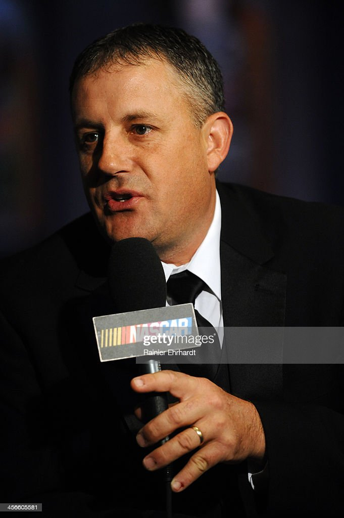 Canadian Tire Series champion Scott Steckly speaks in an interview during the NASCAR Night of Champions at Charlotte Convention Center on December 14, 2013 in Charlotte, North Carolina.