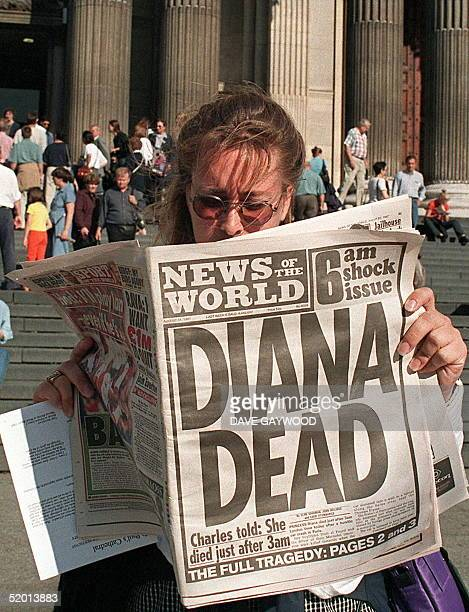 Canadian tourist reads 31 August in front of SaintPaul's Cathedral in London where Britain's Prince Charles and Princess Diana were married sixteen...