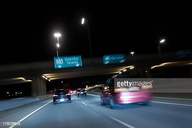 Canadian traffic at night